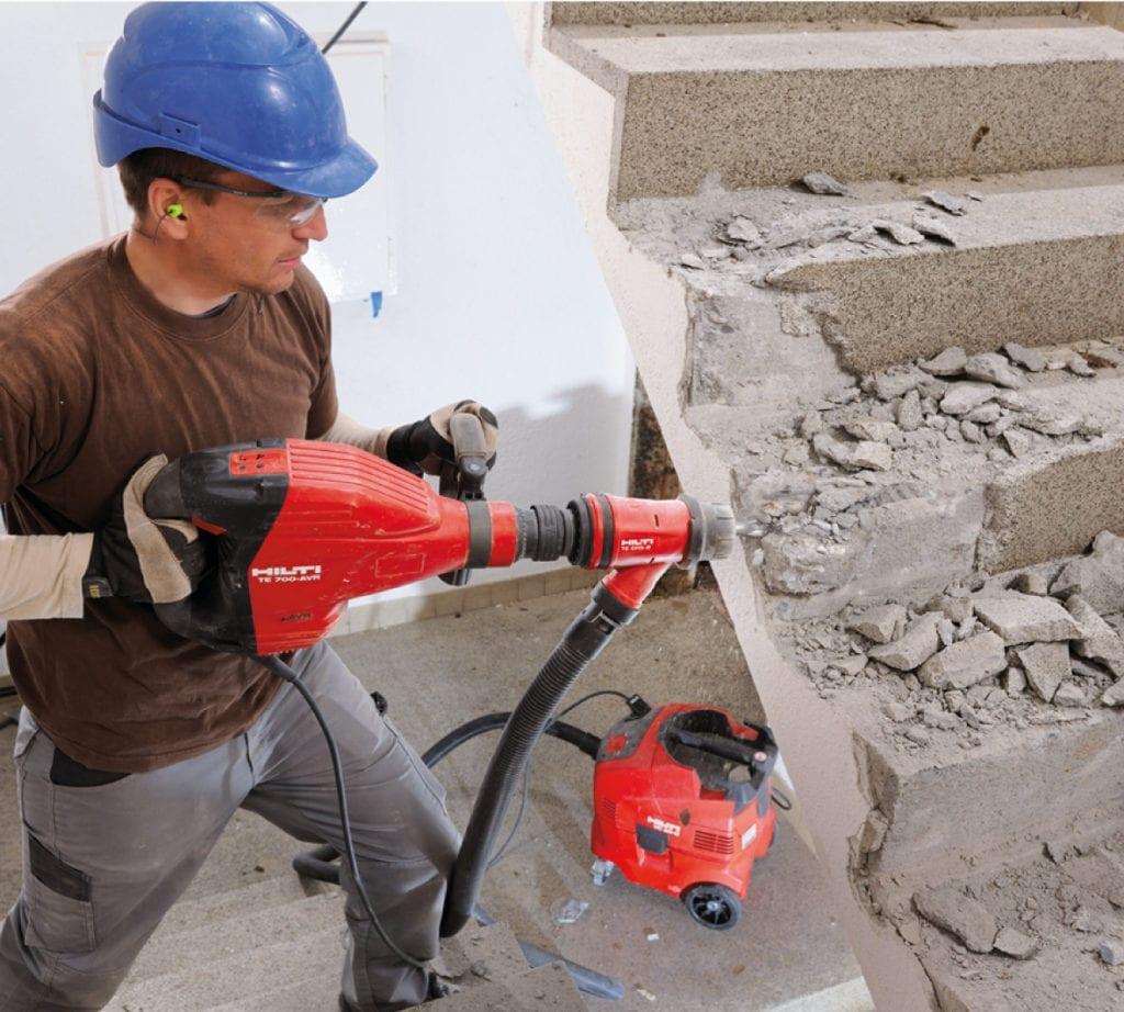 отбойный молоток, демонтаж стен