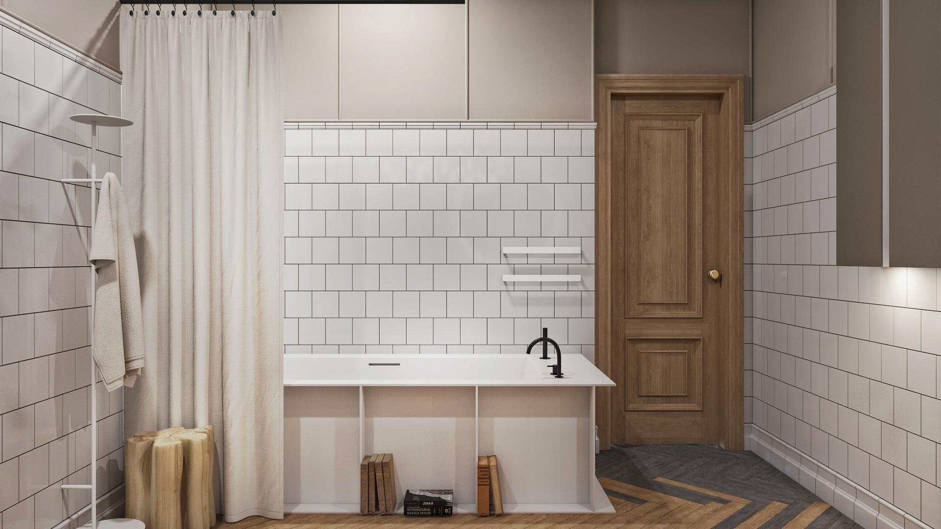 Смелые дизайнерские решения для ванной