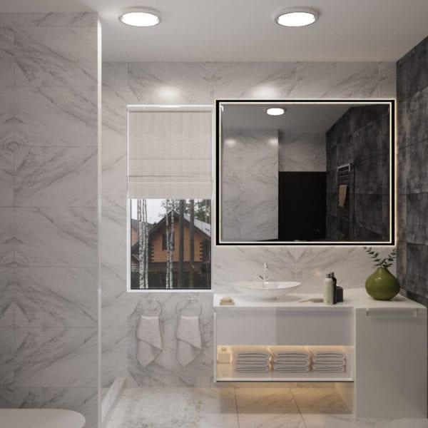 Разработка дизайн-проекта ванной комнаты в частном доме
