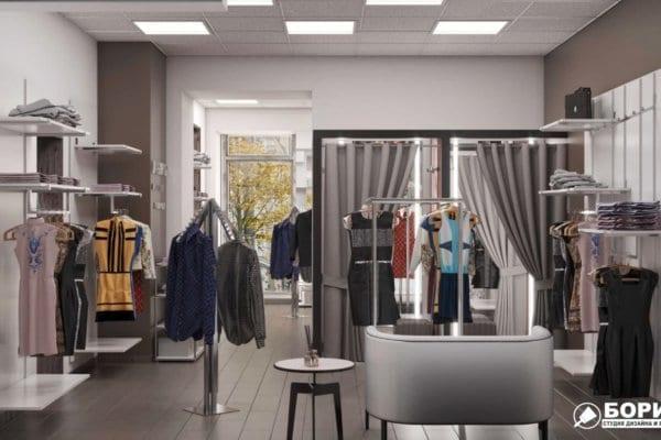 Дизайн интерьера магазина одежды «MAGISHOP», фото №4