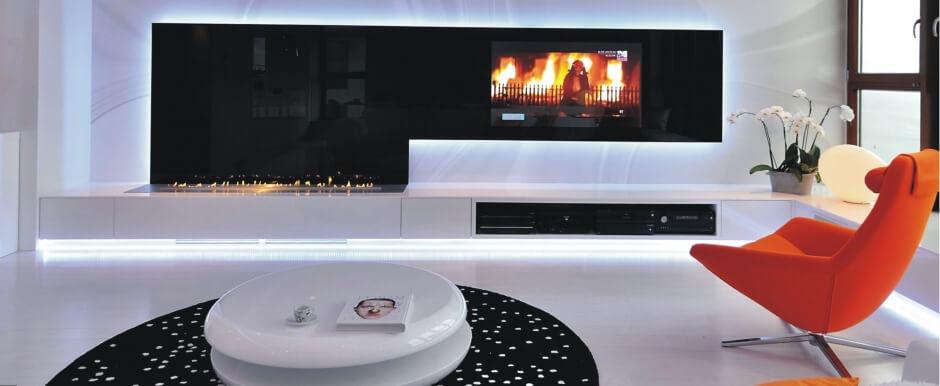 Дизайн интерьера в стиле хай-тек, гостиная