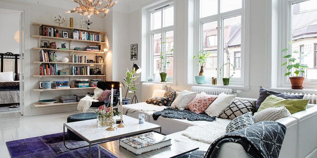 Дизайн интерьера в скандинавском стиле, гостиная