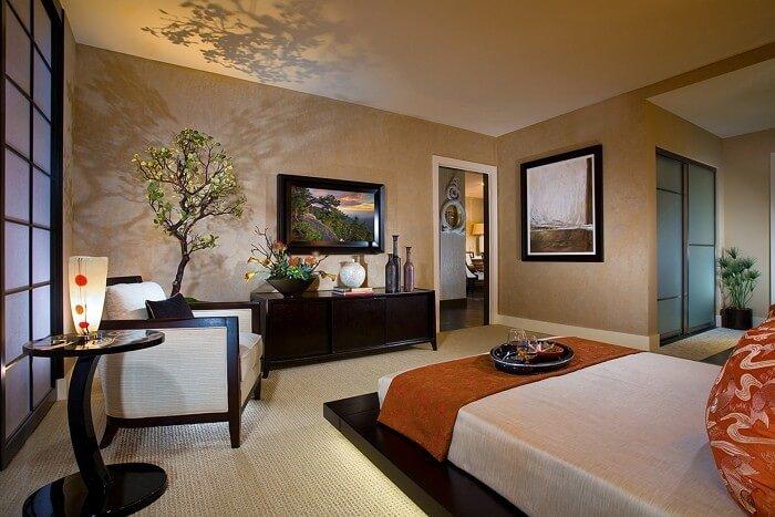 Дизайн японского стиля в интерьере, спальня