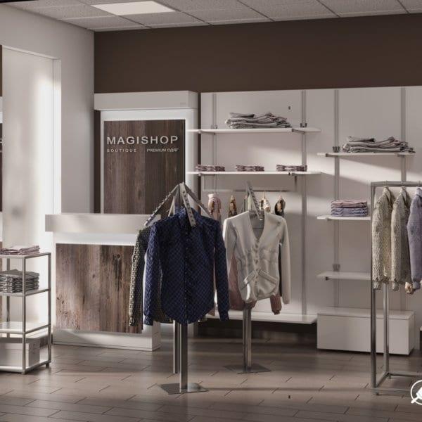 Дизайн интерьера магазина одежды «MAGISHOP», фото №2
