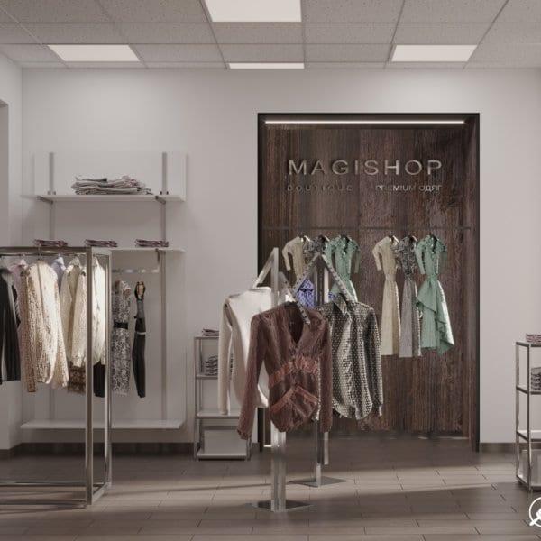 Дизайн интерьера магазина одежды «MAGISHOP». фото №3