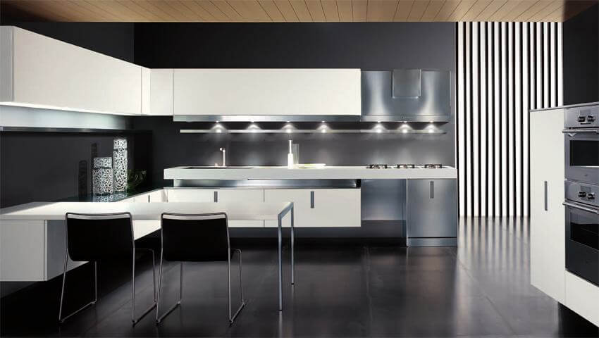 Дизайн интерьера в стиле хай-тек, кухня