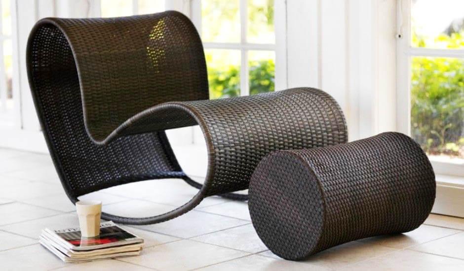 Экологичная мебель в современном интерьере: плетёная мебель из ротанга
