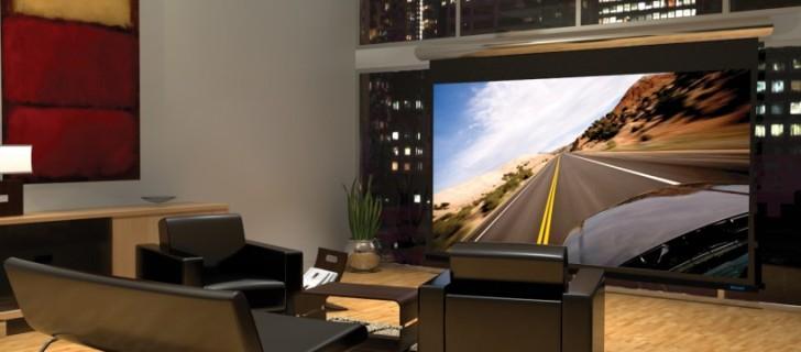 Почему телевизор-проектор в интерьере – лучшее решение