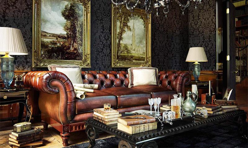 Английский стиль в интерьере, гостиная