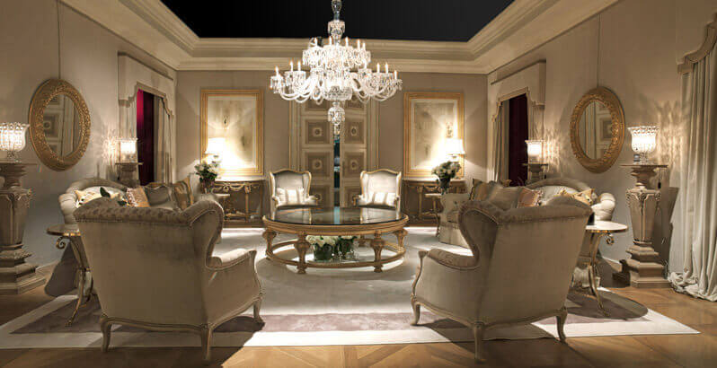Стиль барокко в интерьере, гостиная