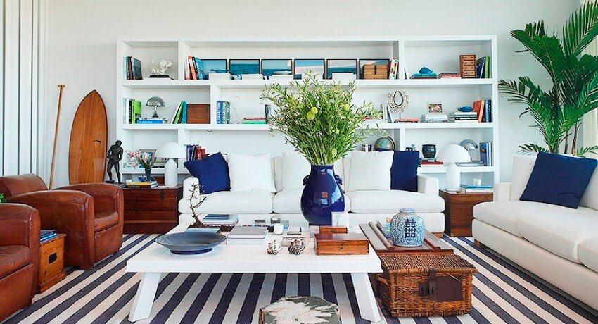 Средиземноморский стиль в интерьере, гостиная