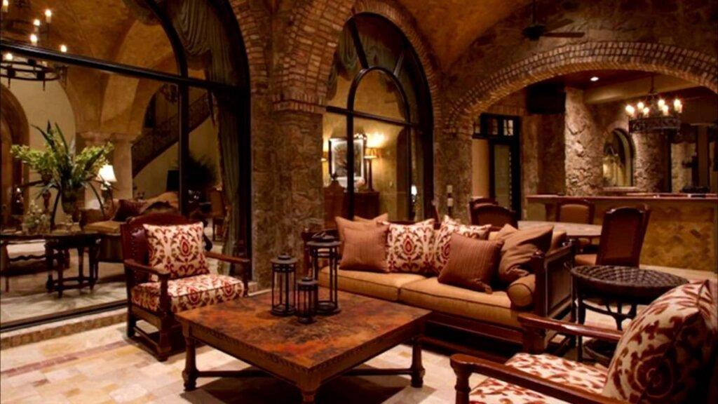 Романский стиль в интерьере, гостиная
