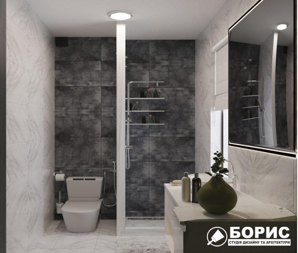 Дизайн ванной комнаты ул. Куриловская