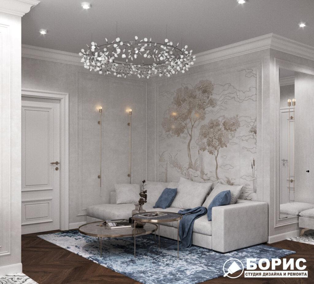 Дизайн интерьера квартиры ЖК «Мира», гостиная