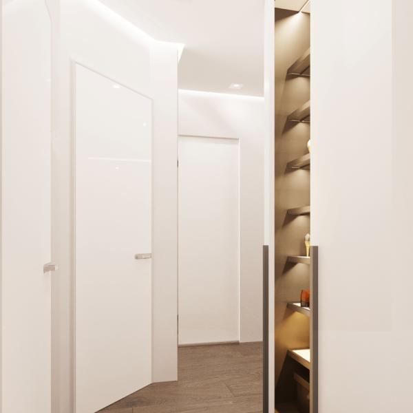 Дизайн интерьера квартиры ЖК «Левада», коридор фото №1