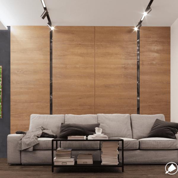Дизайн интерьера квартиры ЖК «Левада». прихожая вид спереди