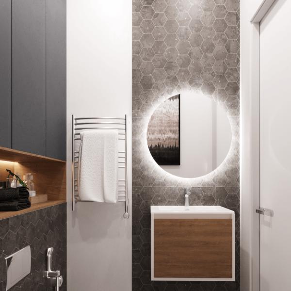 Дизайн интерьера квартиры ЖК «Левада», санузел вид сбоку фото №2