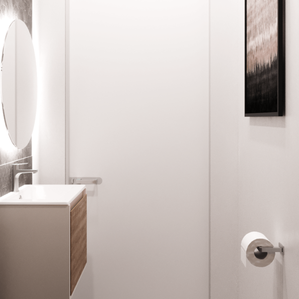 Дизайн интерьера квартиры ЖК «Левада», санузел вид сбоку №4