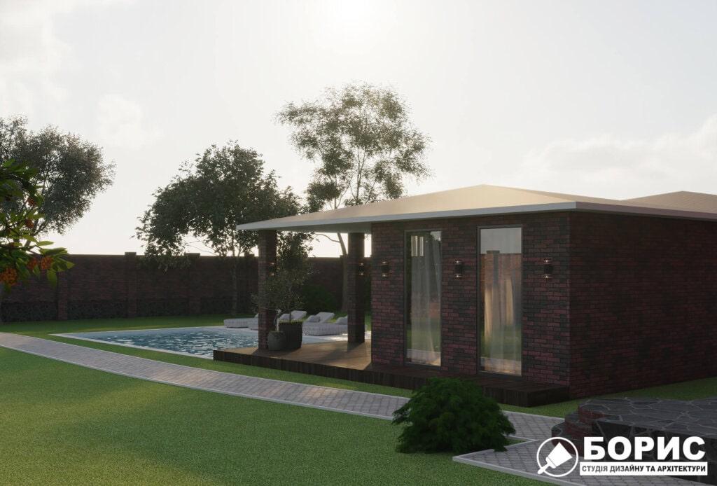 Проектирование гаража, вид сбоку фото №3