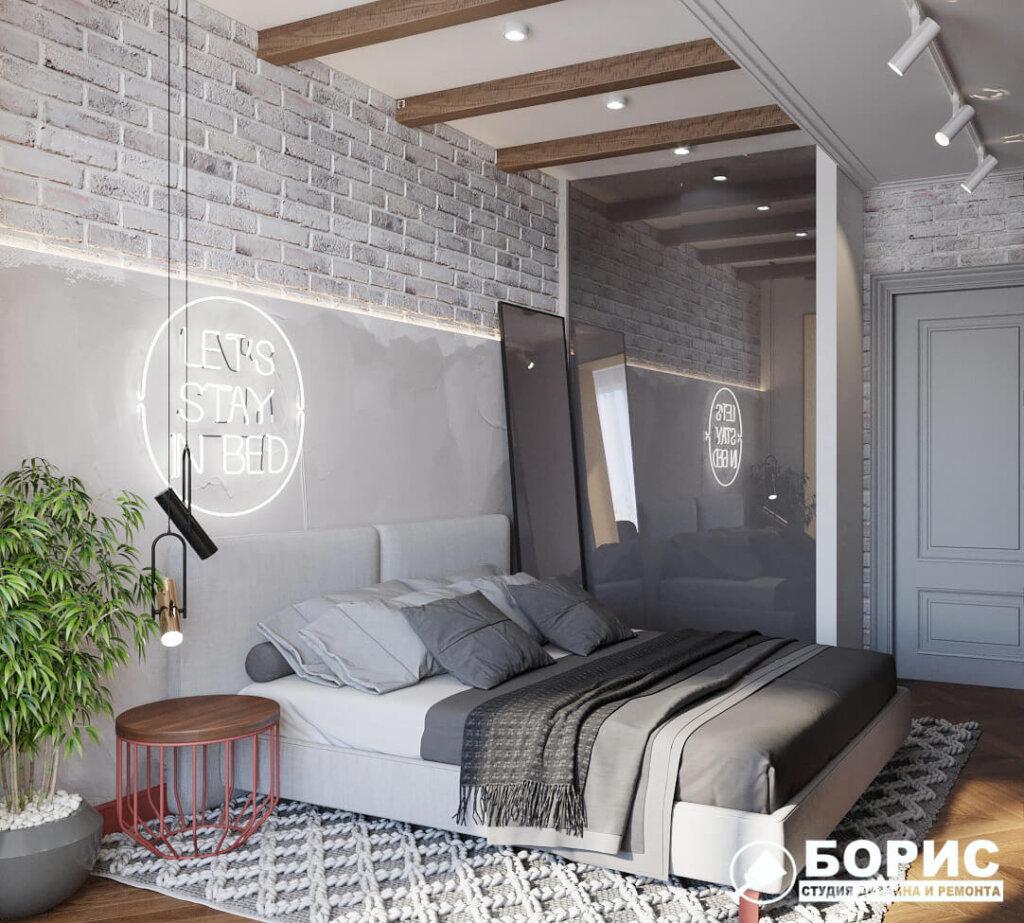 Дизайн интерьера квартиры ЖК «Мира», спальня №1 вид справа