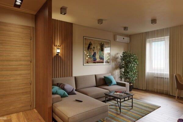 Dizajn interera kvartiry v etno stile gostinaya 4