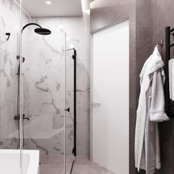 Дизайн интерьера квартиры ЖК «Левада», санузел вид сзади фото №1