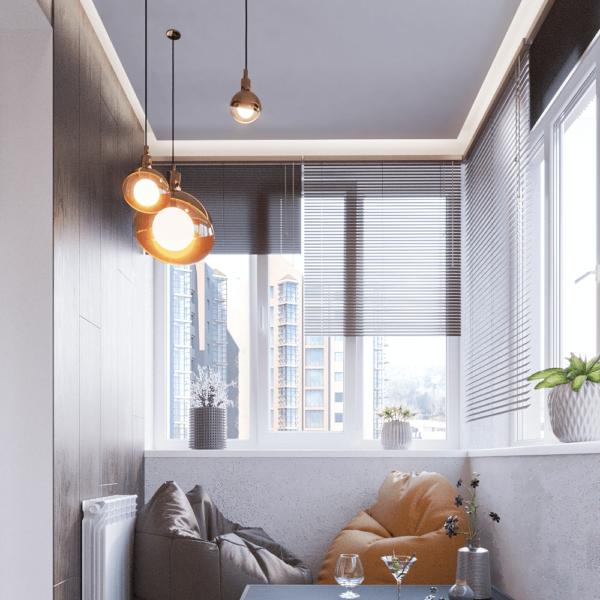 Дизайн интерьера квартиры ЖК «Левада», балкон вид слева