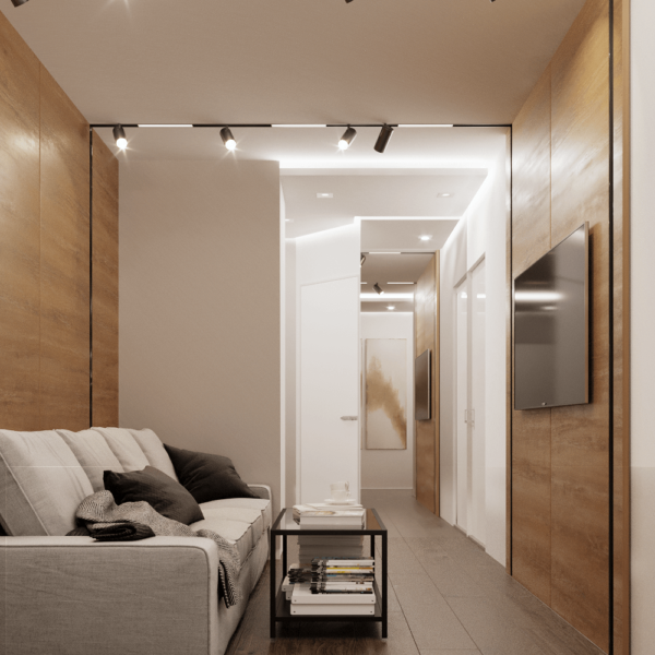 Дизайн интерьера квартиры ЖК «Левада», прихожая вид справа