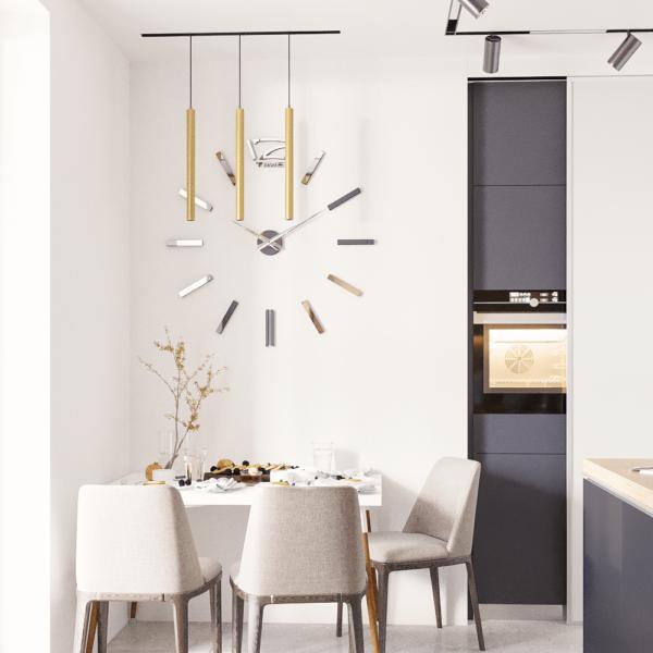 Дизайн интерьера квартиры ЖК «Левада», кухня вид справа