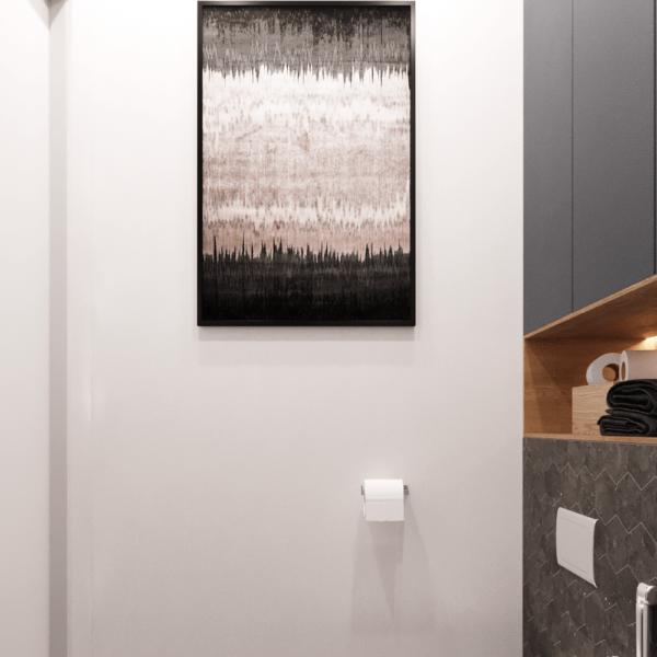 Дизайн интерьера квартиры ЖК «Левада», санузел вид сбоку фото №3