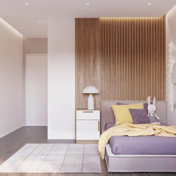 Дизайн интерьера квартиры ЖК «Левада», детская вид спереди