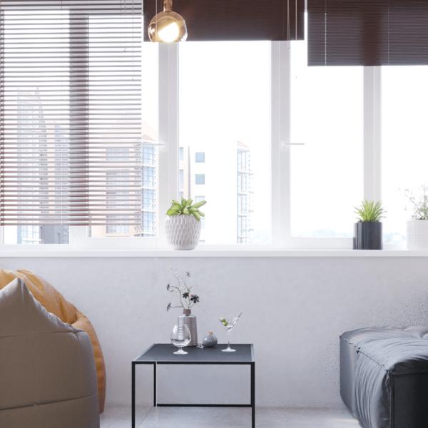 Дизайн интерьера квартиры ЖК «Левада», балкон вид спереди