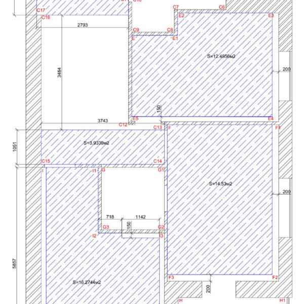 Дизайн интерьера квартиры ЖК «Левада», чертеж фото №8