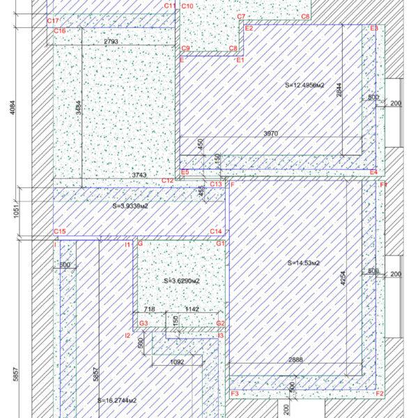 Дизайн интерьера квартиры ЖК «Левада», чертеж фото №9