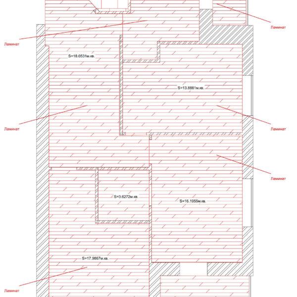 Дизайн интерьера квартиры ЖК «Левада», чертеж фото №10