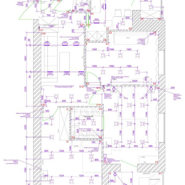 Дизайн интерьера квартиры ЖК «Левада», чертеж фото №11