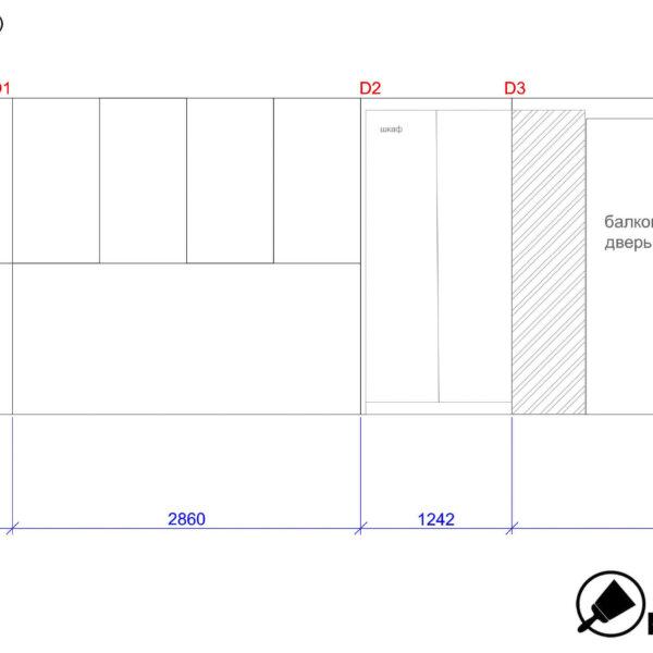 Дизайн интерьера квартиры ЖК «Левада», чертеж фото №17