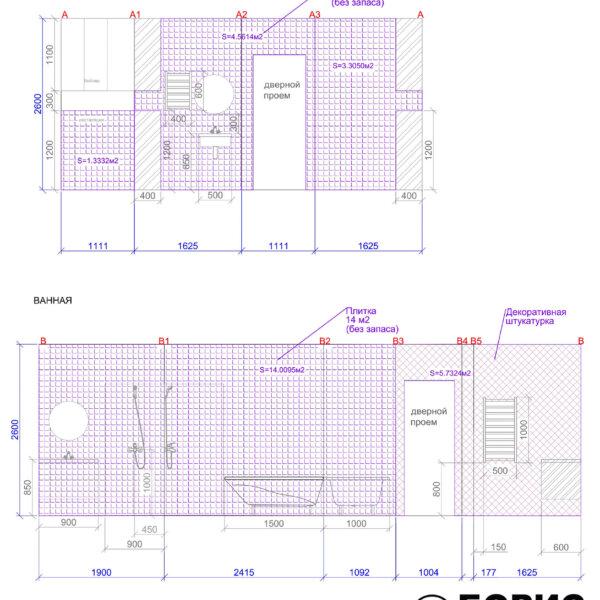Дизайн интерьера квартиры ЖК «Левада», чертеж фото №24