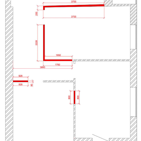Дизайн интерьера квартиры ЖК «Левада». чертеж фото №34