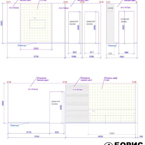 Дизайн интерьера квартиры ЖК «Левада», чертеж фото №26