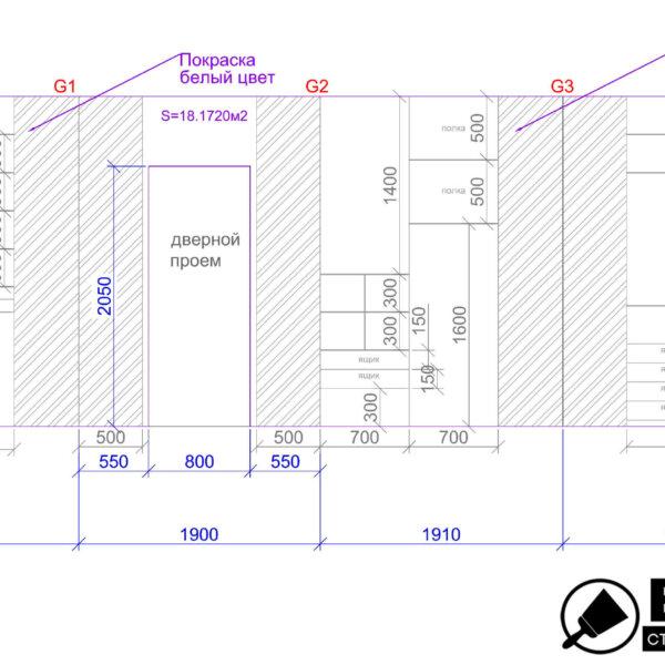Дизайн интерьера квартиры ЖК «Левада», чертеж фото №30