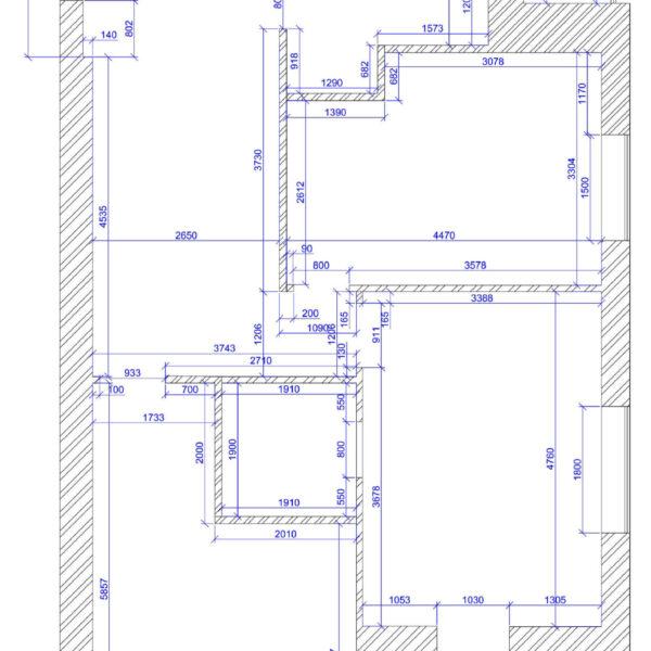 Дизайн интерьера квартиры ЖК «Левада», чертеж фото №3