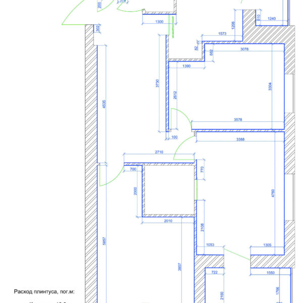 Дизайн интерьера квартиры ЖК «Левада», чертеж фото №6