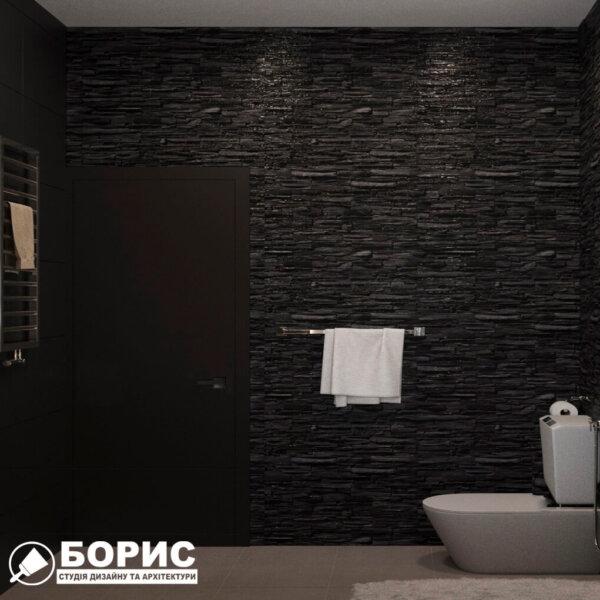 Дизайн интерьера ванной комнаты ул. Куриловская, вид слева фото №3