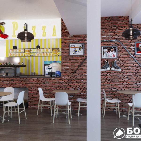 Дизайн интерьера пиццерии «BEKONZ PIZZA» в ТРЦ «Французский бульвар», фото №1