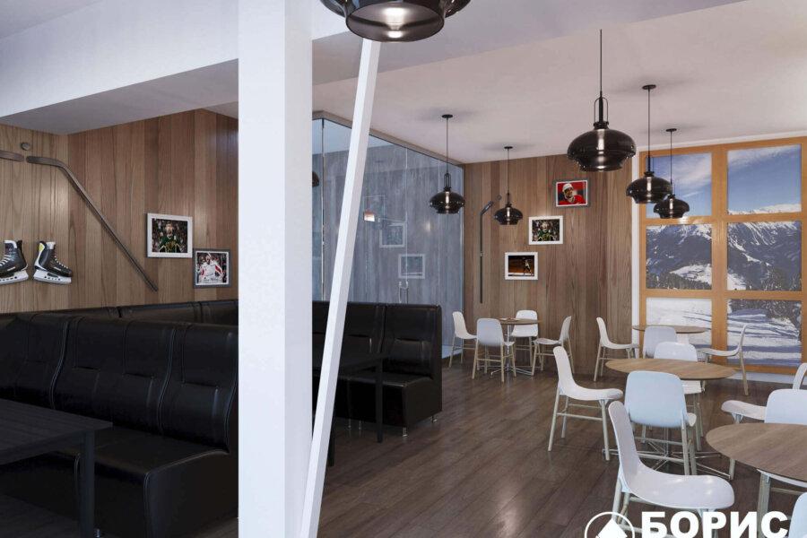 Дизайн интерьера пиццерии «BEKONZ PIZZA» в ТРЦ «Французский бульвар». фото №2