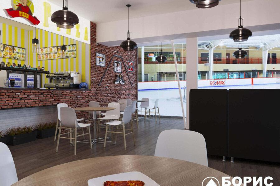 Дизайн интерьера пиццерии «BEKONZ PIZZA» в ТРЦ «Французский бульвар», фото №3