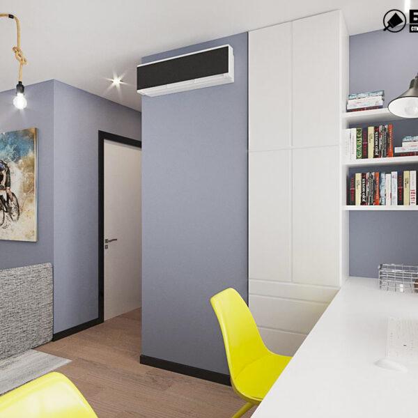 """Дизайн-проект квартири ЖК """"Журавлі"""", дитяча кімната вид зліва"""