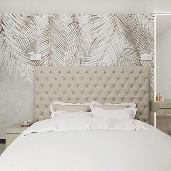 """Дизайн-проект квартири ЖК """"Журавлі"""", спальня вид спереду"""