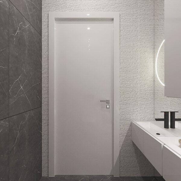 """Дизайн-проект квартири ЖК """"Журавлі"""", санвузол вид зліва"""